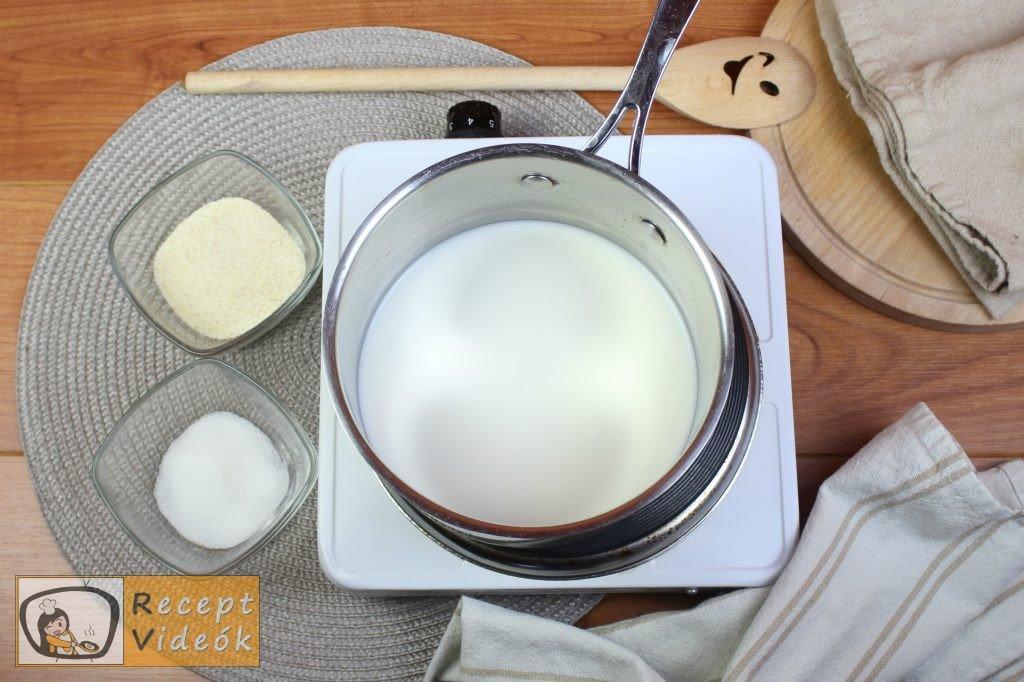 Tejbegríz (tejbedara) recept, tejbegríz (tejbedara) elkészítése 1. lépés