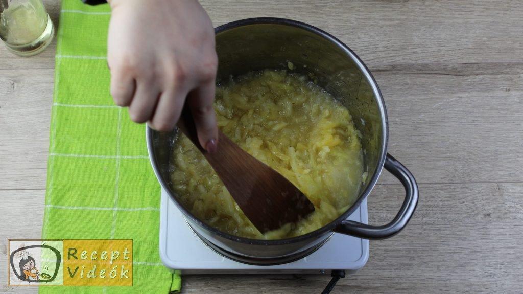 Tökfőzelék recept, tökfőzelék elkészítése 2. lépés
