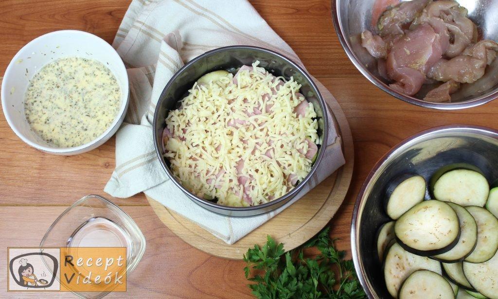 padlizsános csirketorta recept, padlizsános csirketorta elkészítése 4. lépés