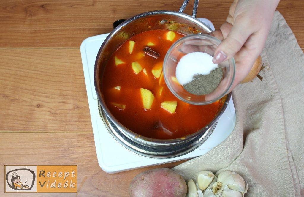 Paprikás krumpli recept, paprikás krumpli elkészítése 5. lépés