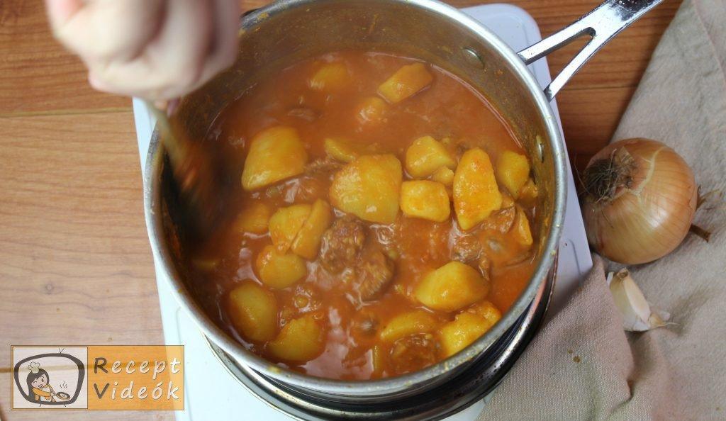Paprikás krumpli recept, paprikás krumpli elkészítése 6. lépés