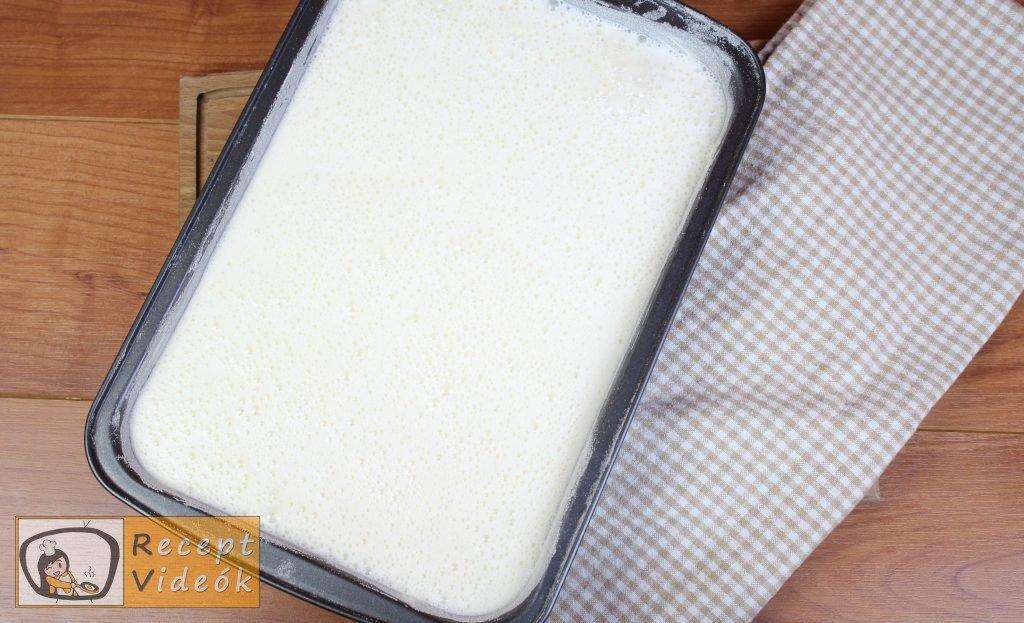 Tejes pite recept, tejes pite elkészítése 5. lépés