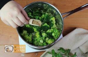 Brokkoli krémleves recept, brokkoli krémleves elkészítése 6. lépés