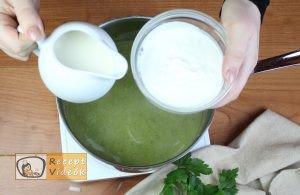 Brokkoli krémleves recept, brokkoli krémleves elkészítése 8. lépés