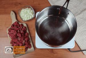Gulyásleves recept, gulyásleves elkészítése 1. lépés
