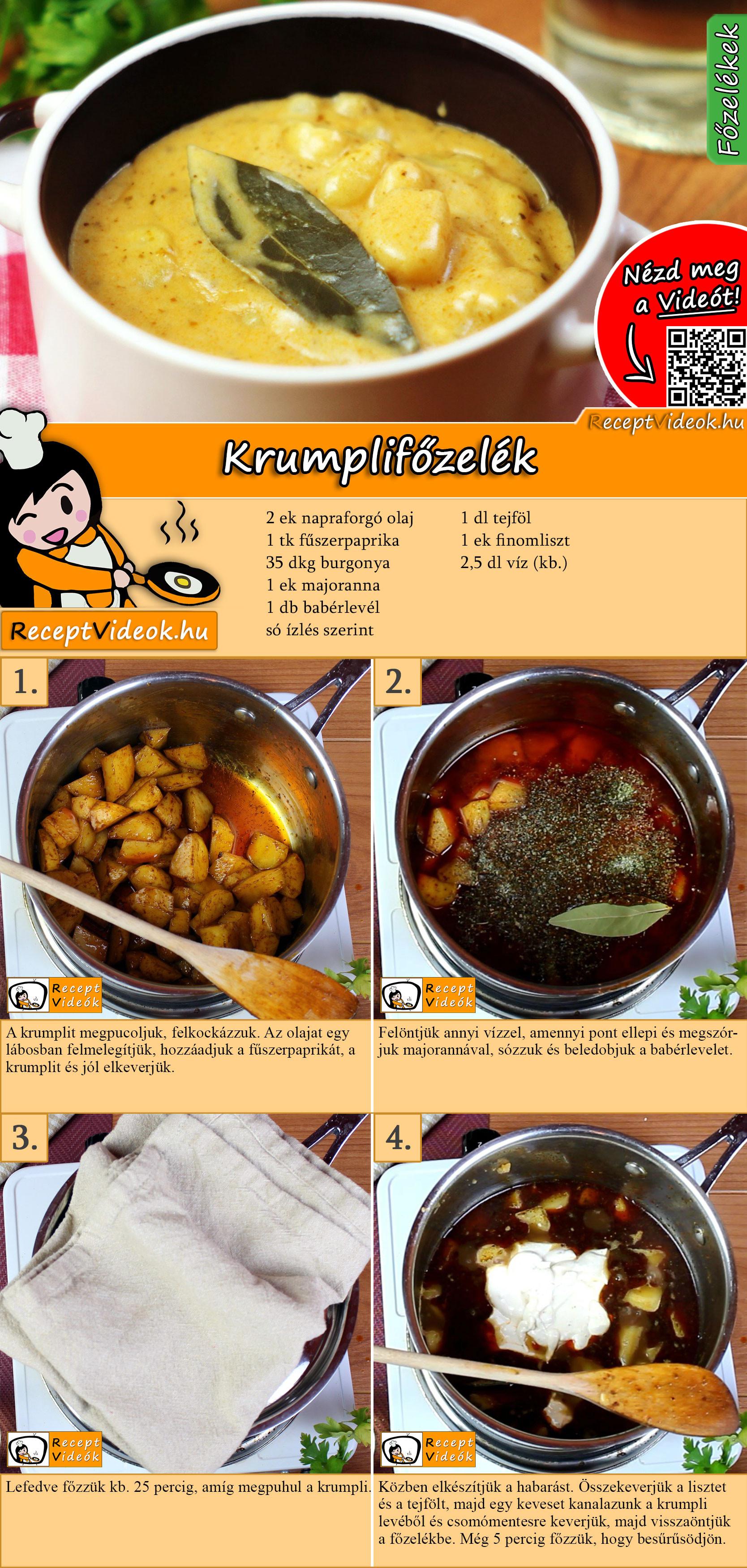 Krumplifőzelék recept elkészítése videóval