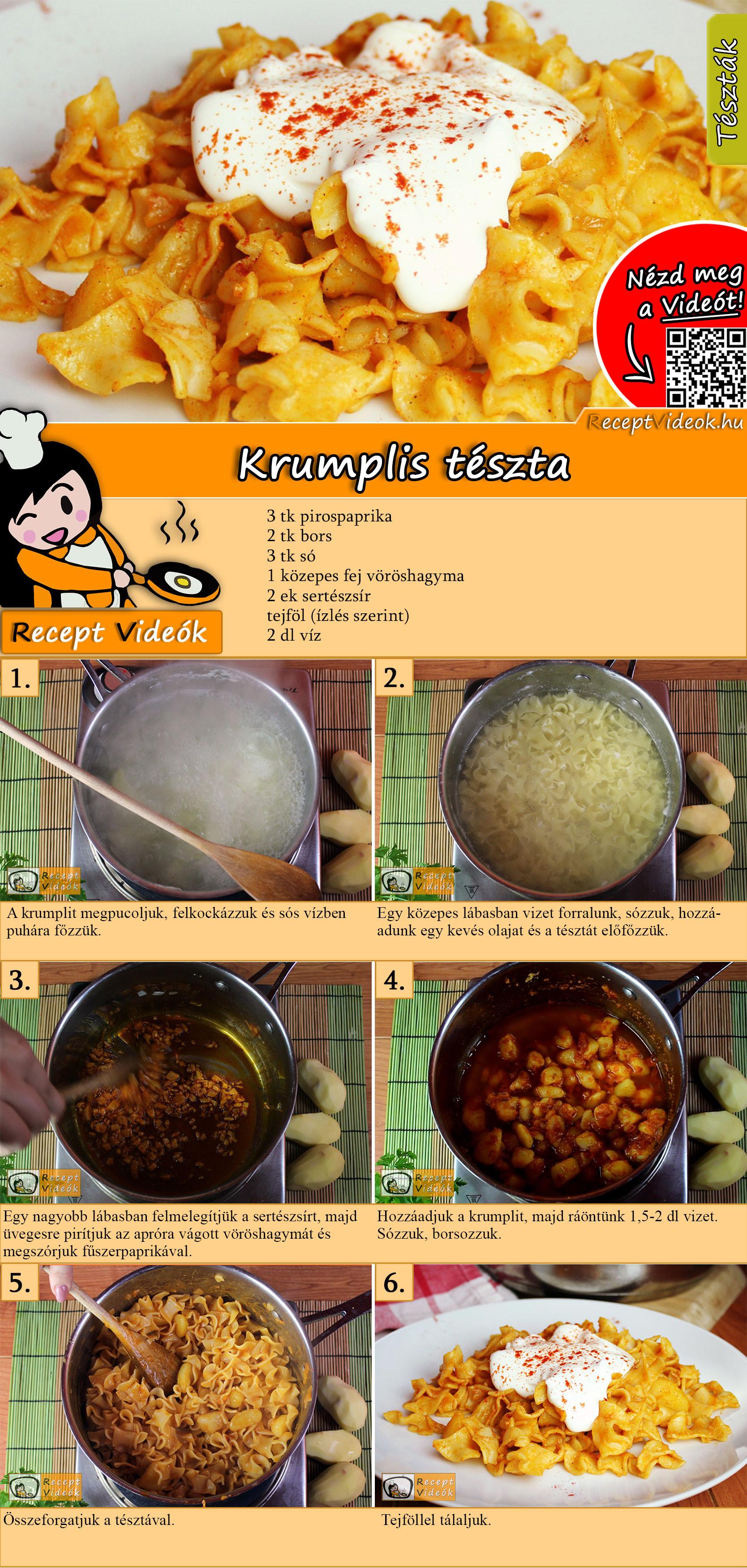 Krumplis tészta recept elkészítése videóval