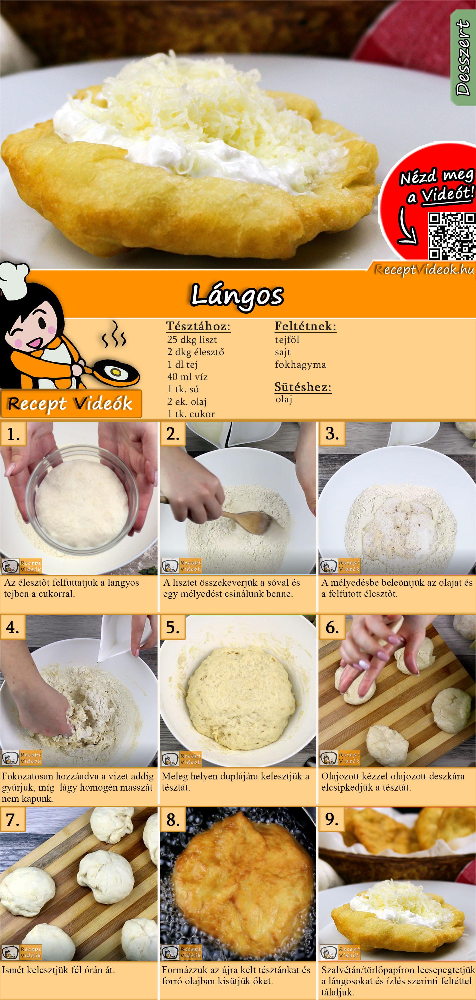 Lángos recept elkészítése videóval
