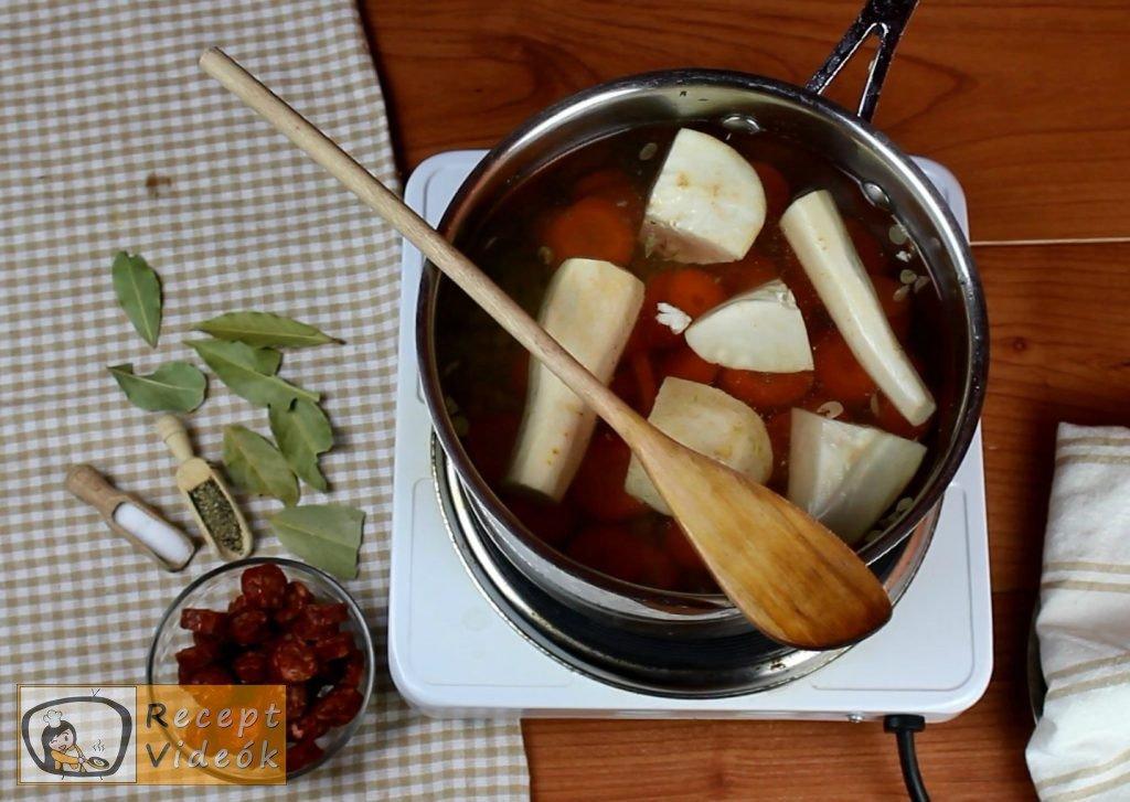 Lencseleves recept, lencseleves elkészítése 1. lépés