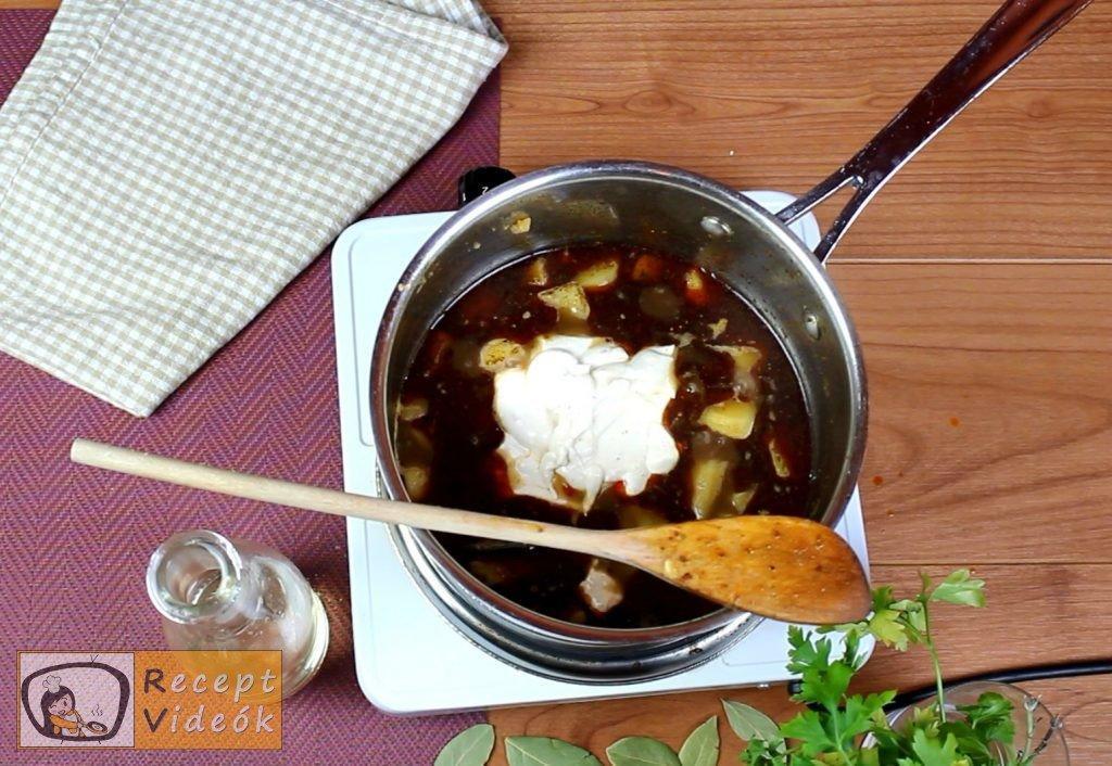 Krumplifőzelék recept, krumplifőzelék elkészítése 4. lépés