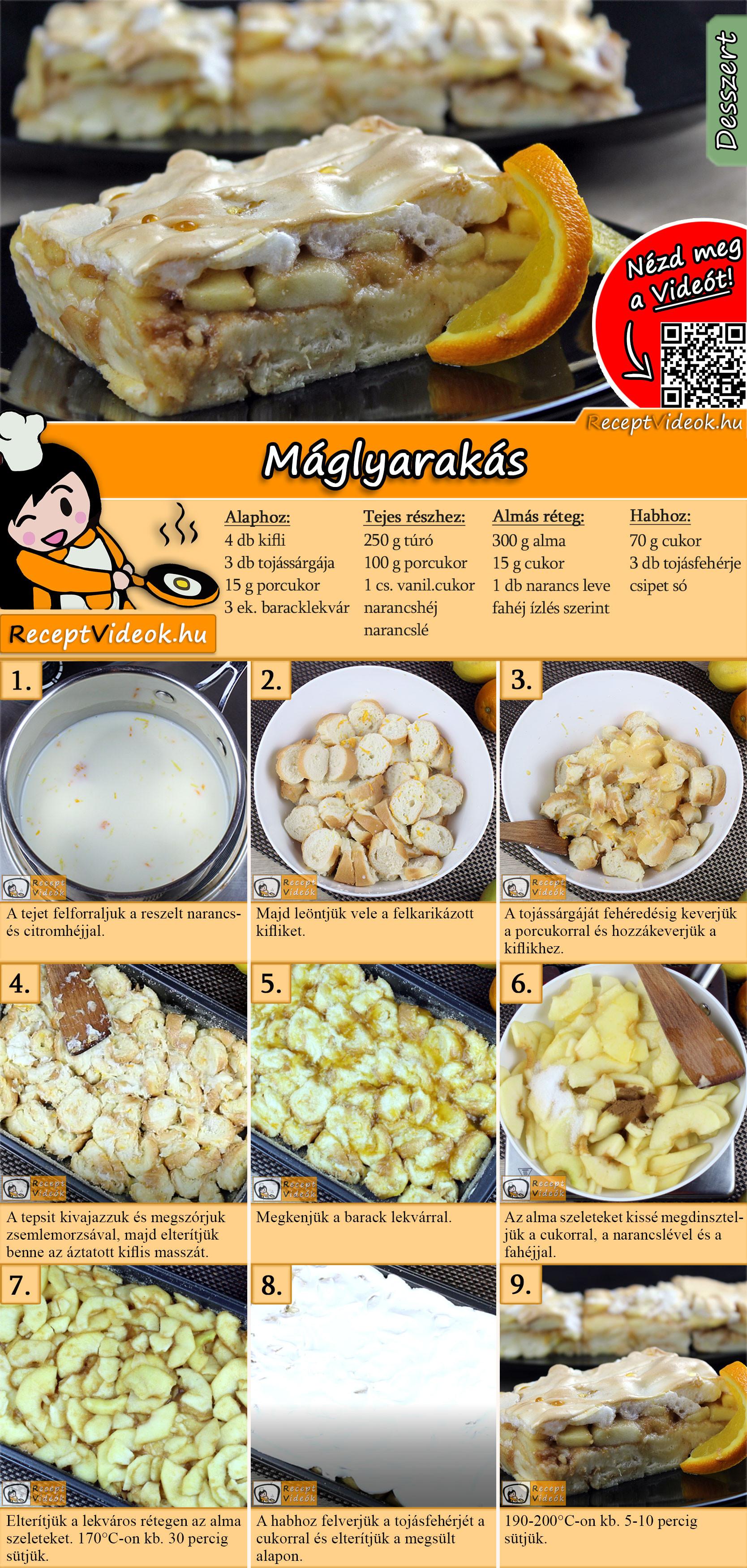 Máglyarakás recept elkészítése videóval