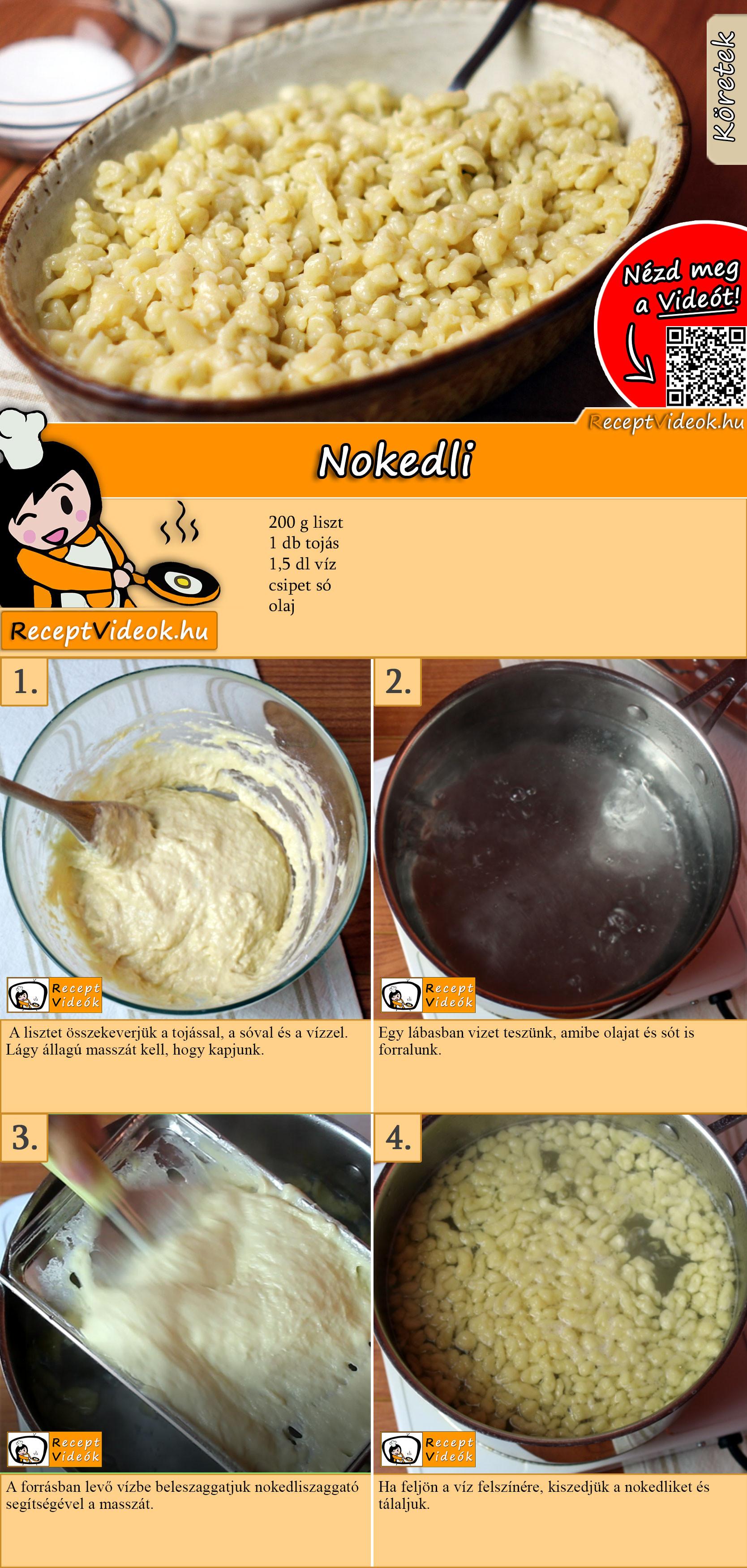 Nokedli recept elkészítése videóval