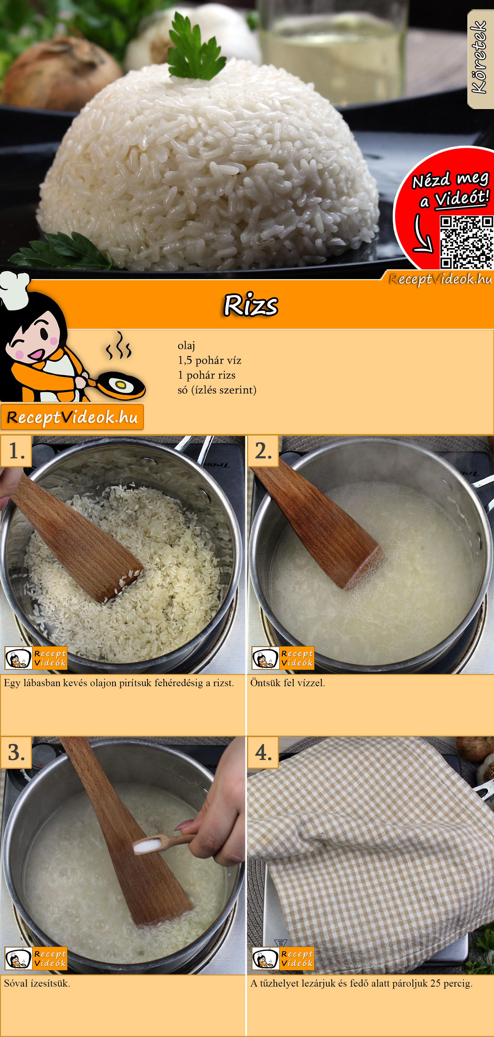 Rizs recept elkészítése videóval