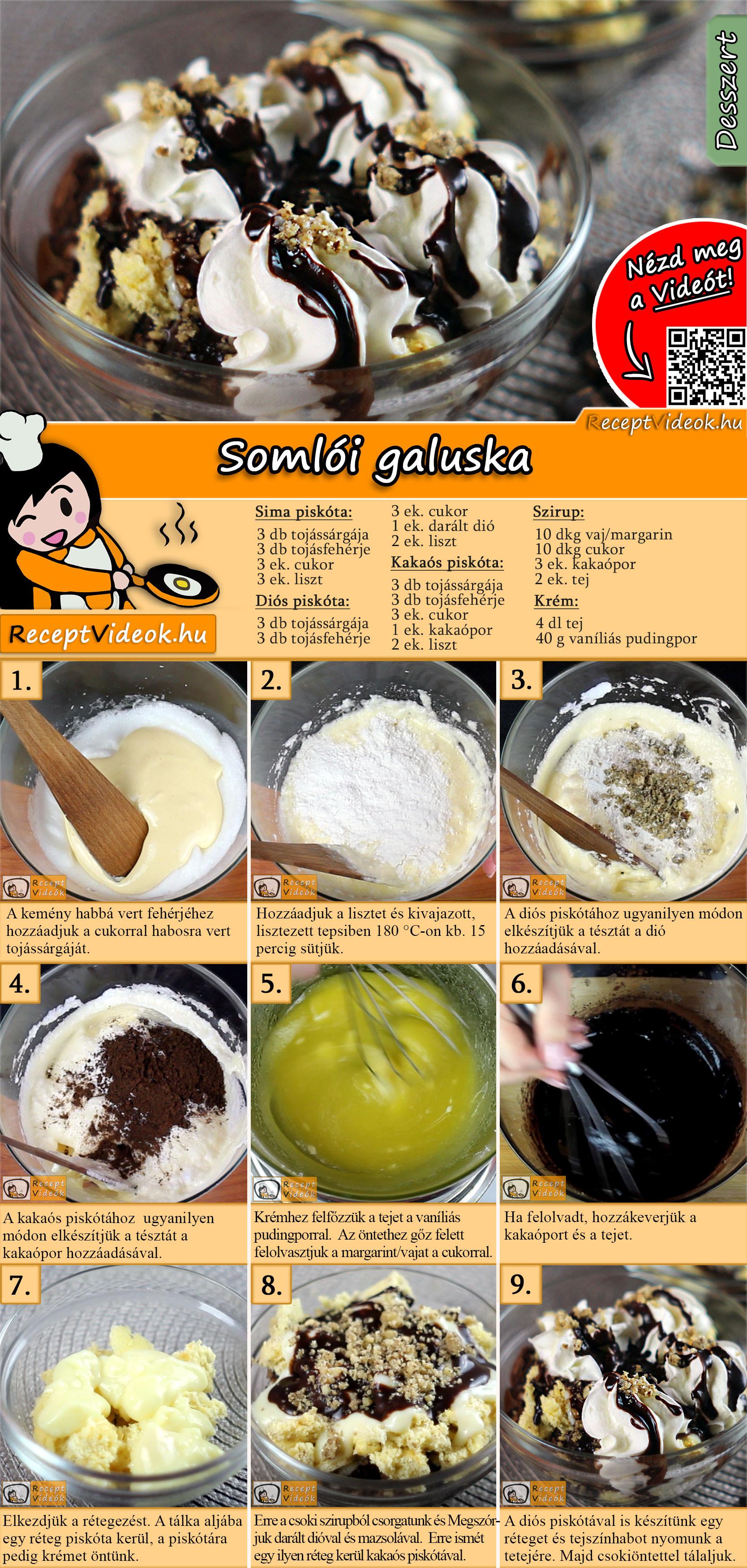 Somlói galuska recept elkészítése videóval