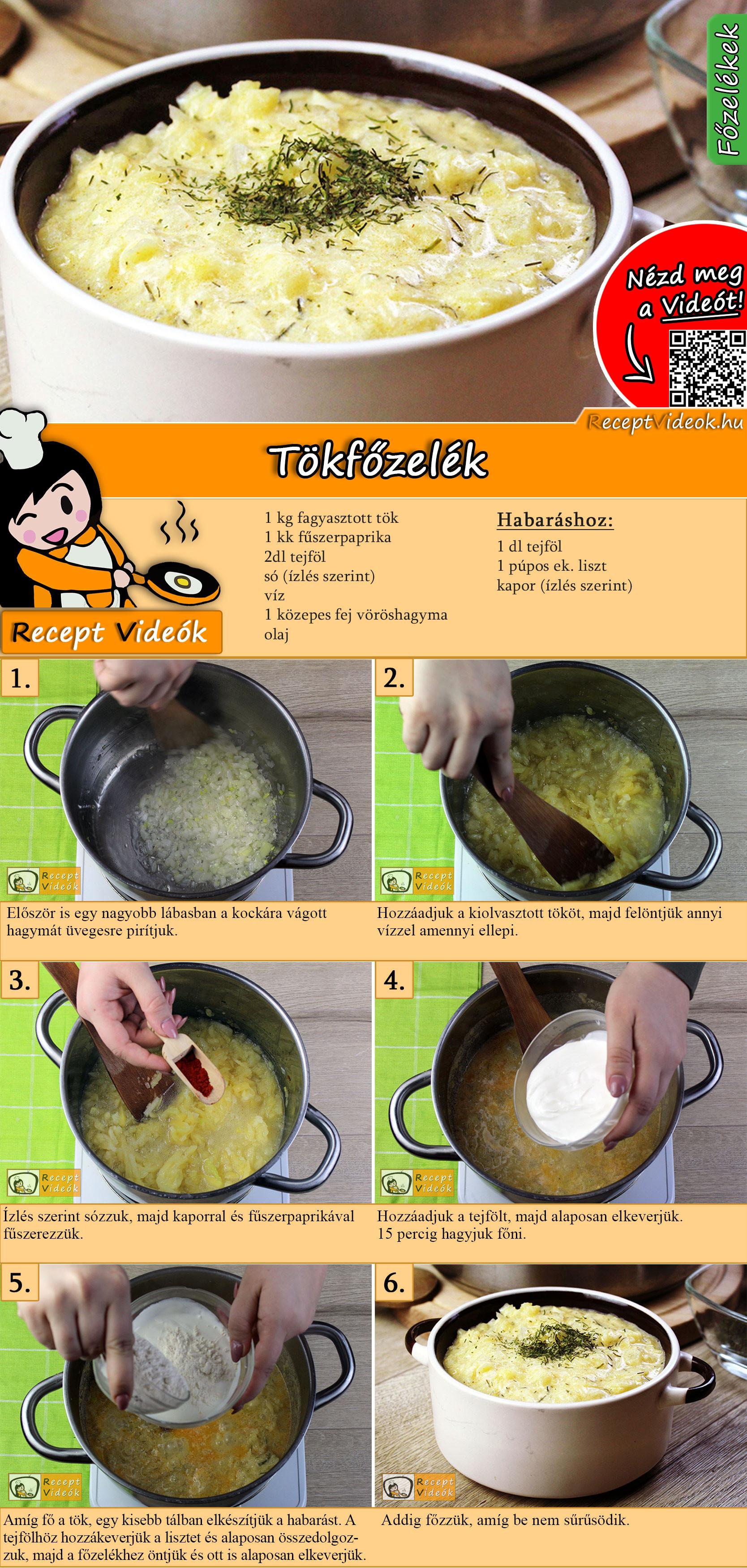 Tökfőzelék recept elkészítése videóval