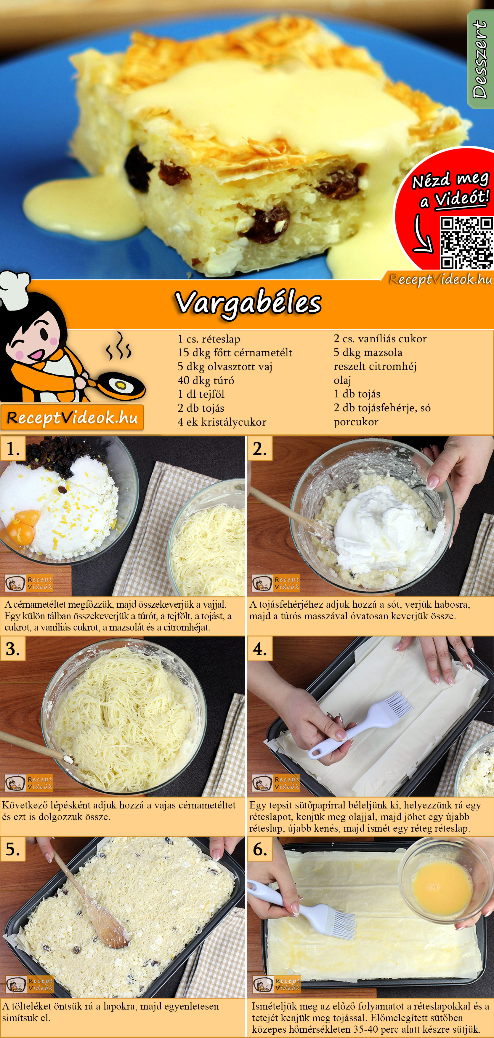 Vargabéles recept elkészítése videóval