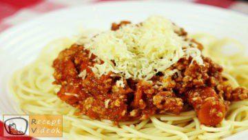 Bolognai spagetti recept, bolognai spagetti elkészítése - Recept Videók