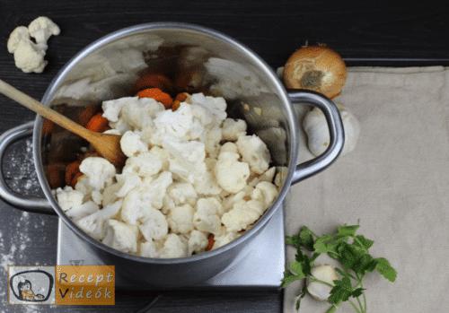 Tejfölös karfiolleves recept, tejfölös karfiolleves elkészítése 4. lépés