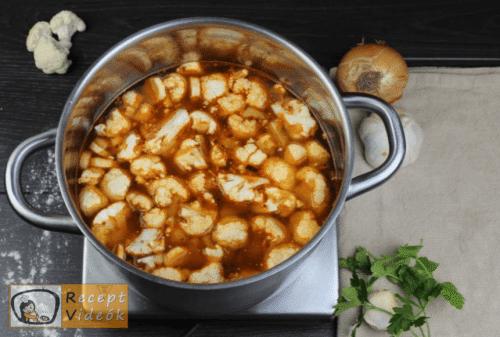 Tejfölös karfiolleves recept, tejfölös karfiolleves elkészítése 5. lépés