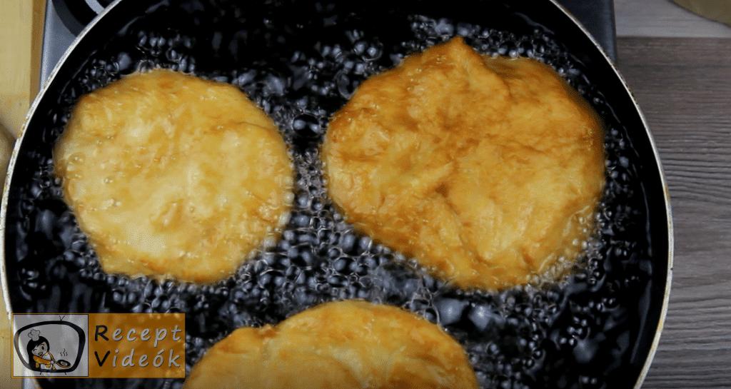 Lángos recept, lángos elkészítése 7. lépés