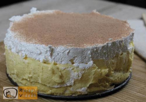 Madártej torta recept, madártej torta elkészítése 8. lépés