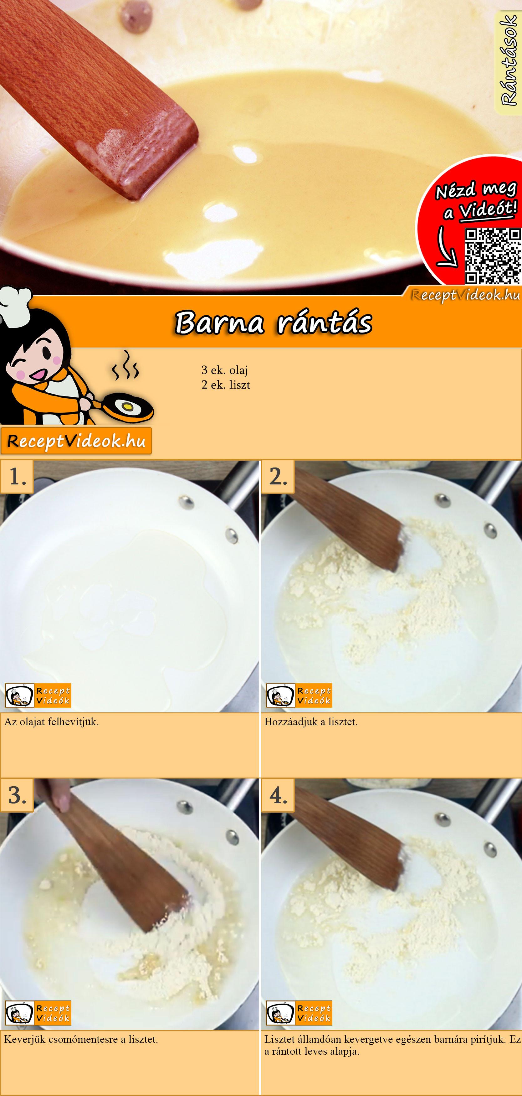 Barna rántás recept elkészítése videóval