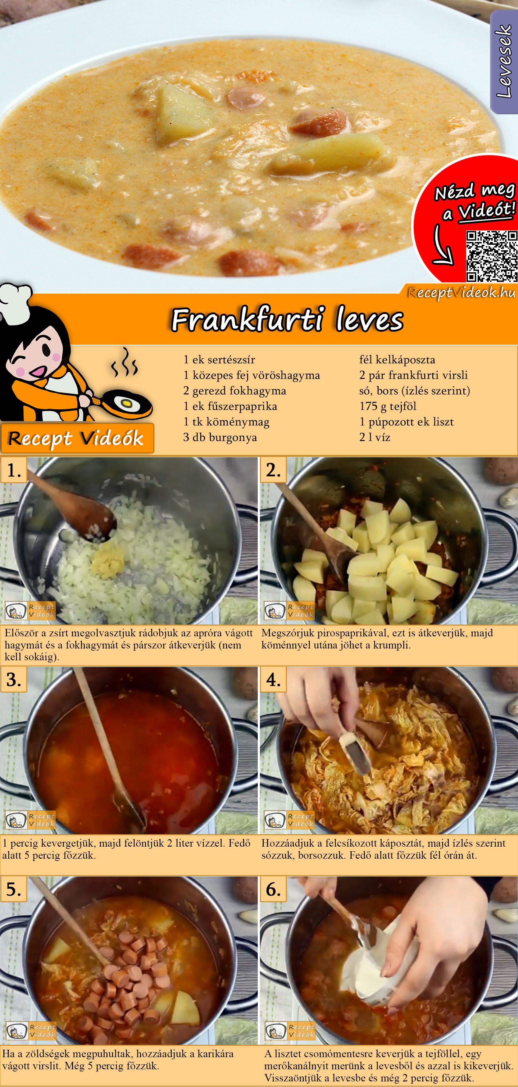 Frankfurti leves recept elkészítése videóval