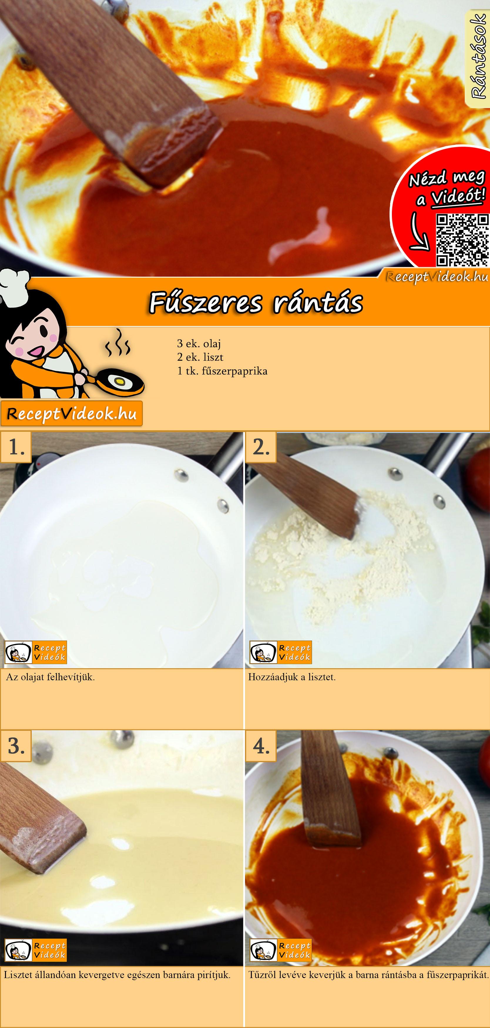 Fűszeres rántás recept elkészítése videóval