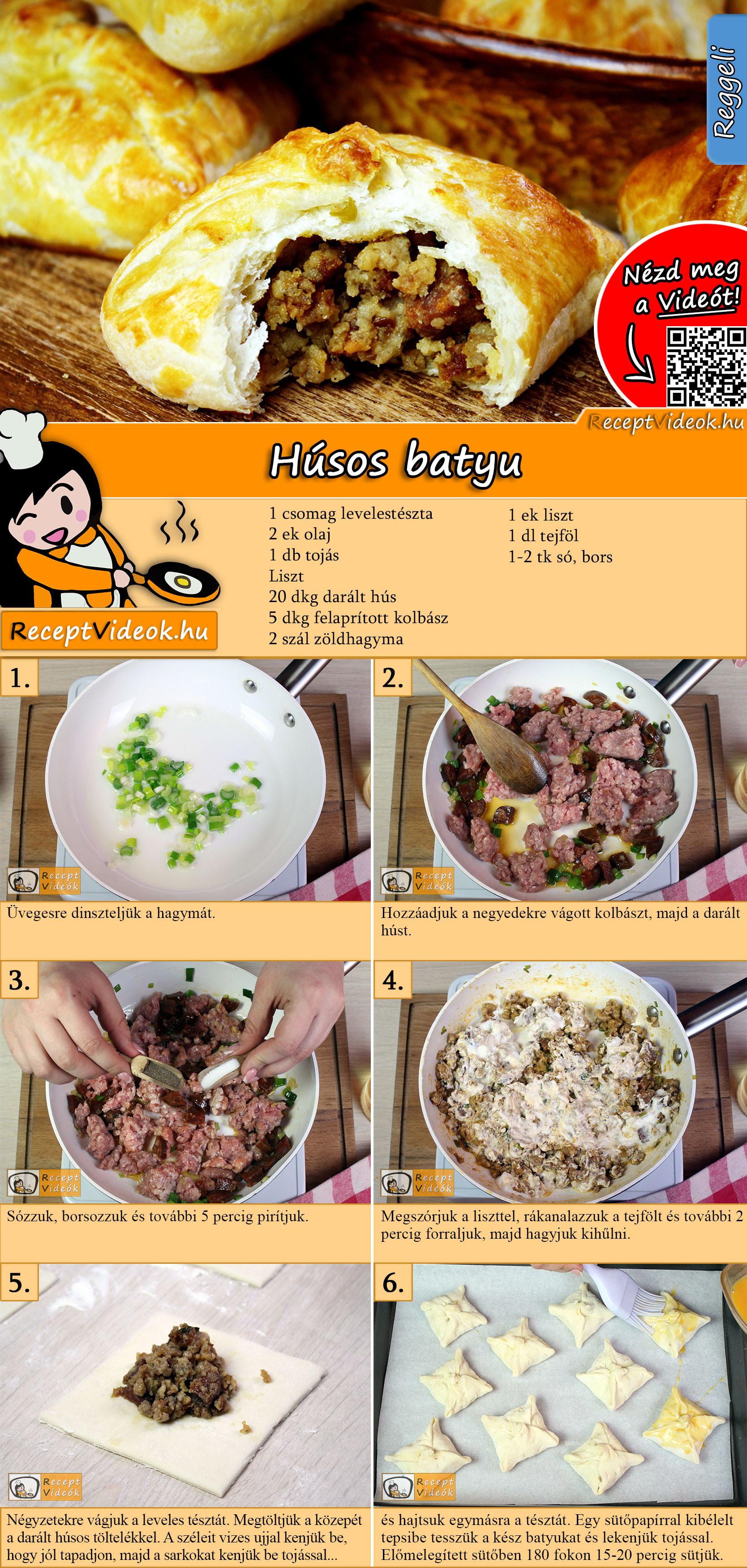 Húsos batyu recept elkészítése videóval