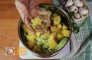 Kelkáposzta főzelék recept, kelkáposzta főzelék elkészítése 3. lépés