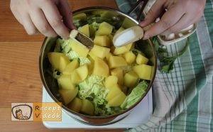 Kelkáposzta főzelék recept, kelkáposzta főzelék elkészítése 2. lépés