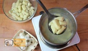 Fokhagymás gnocchi sajtmártással recept, fokhagymás gnocchi sajtmártással elkészítése 4. lépés
