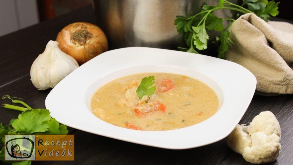 Tejfölös karfiolleves recept, tejfölös karfiolleves elkészítése - Recept Videók