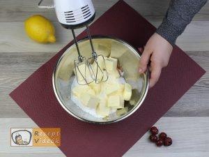 kevert meggyes süti recept, kevert meggyes süti elkészítése 1. lépés