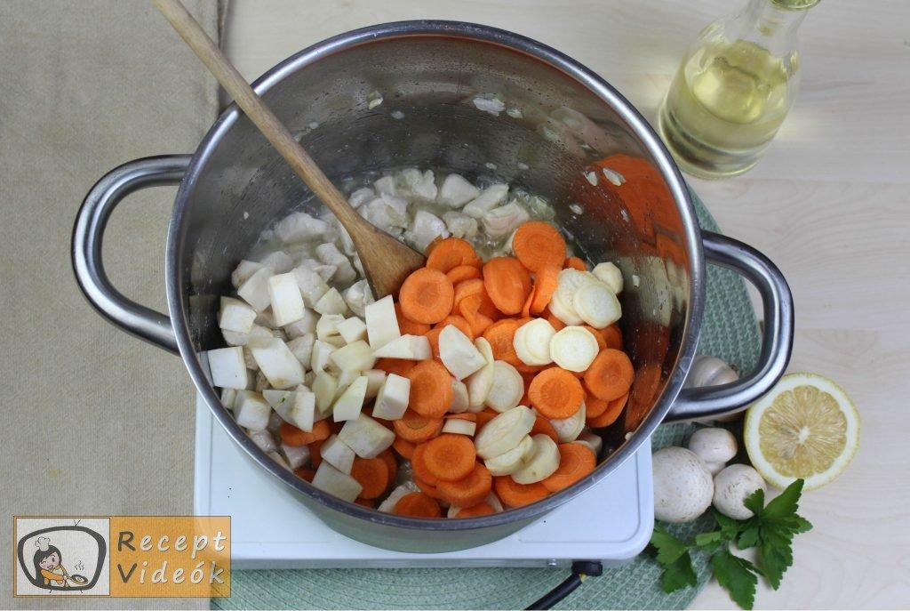 Tárkonyos raguleves recept, tárkonyos raguleves elkészítése 2. lépés
