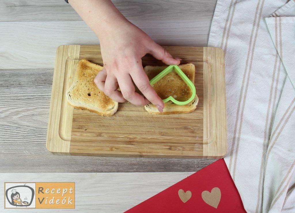 Valentin napi kreatív étel - Valentin napi reggeli elkészítése 7. lépés