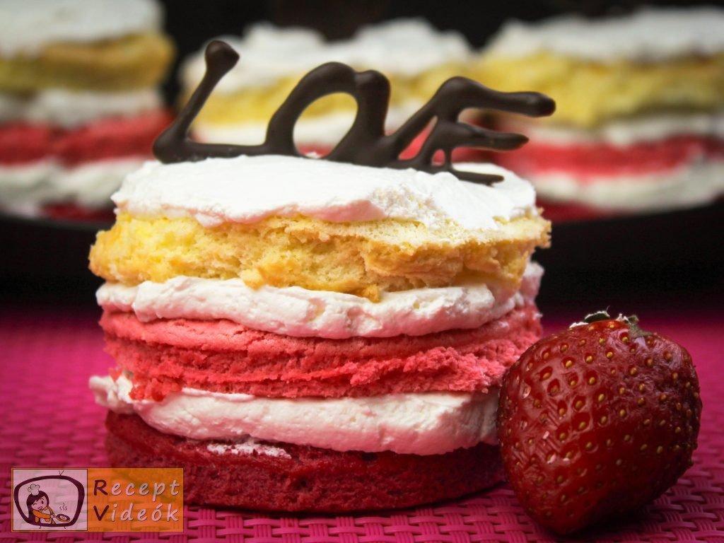 Valentin napi süti recept - valentin napi mini ombre torta elkészítése -Recept Videók