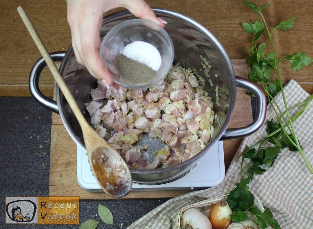Palócleves recept, palócleves elkészítése 3. lépés