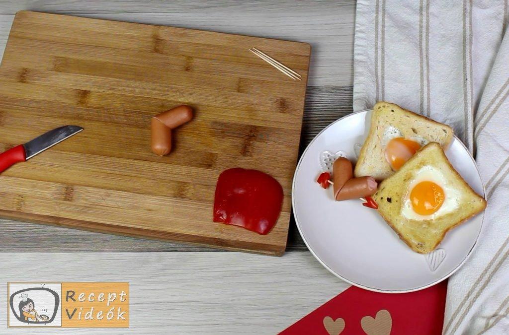 Valentin napi kreatív étel - Valentin napi reggeli elkészítése 1. lépés
