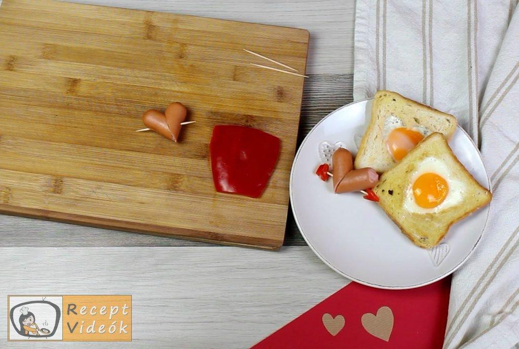 Valentin napi kreatív étel - Valentin napi reggeli elkészítése 2. lépés
