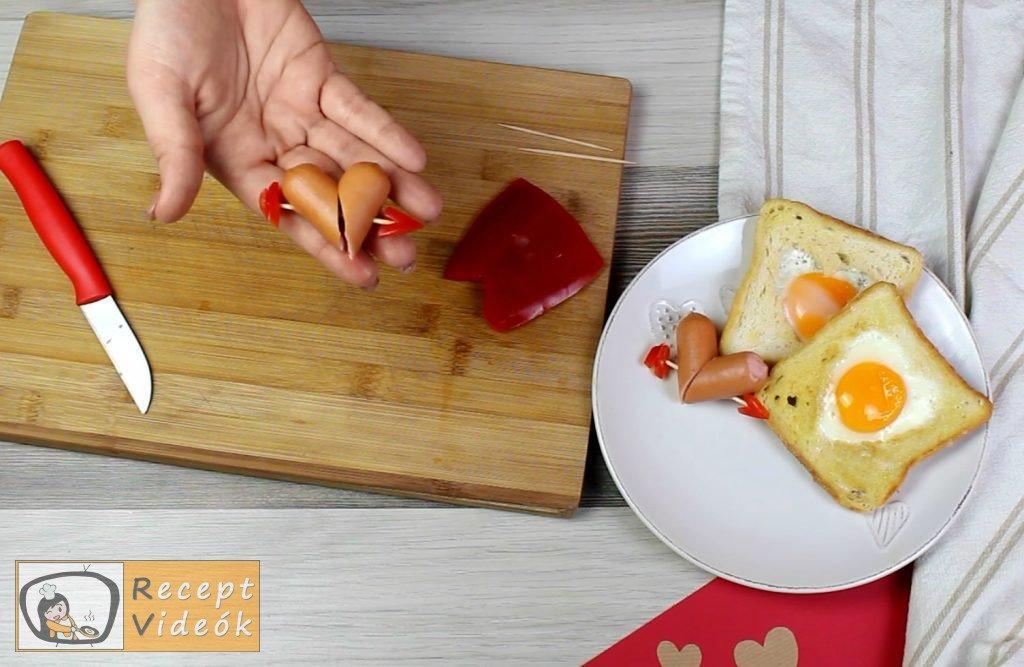 Valentin napi kreatív étel - Valentin napi reggeli elkészítése 3. lépés