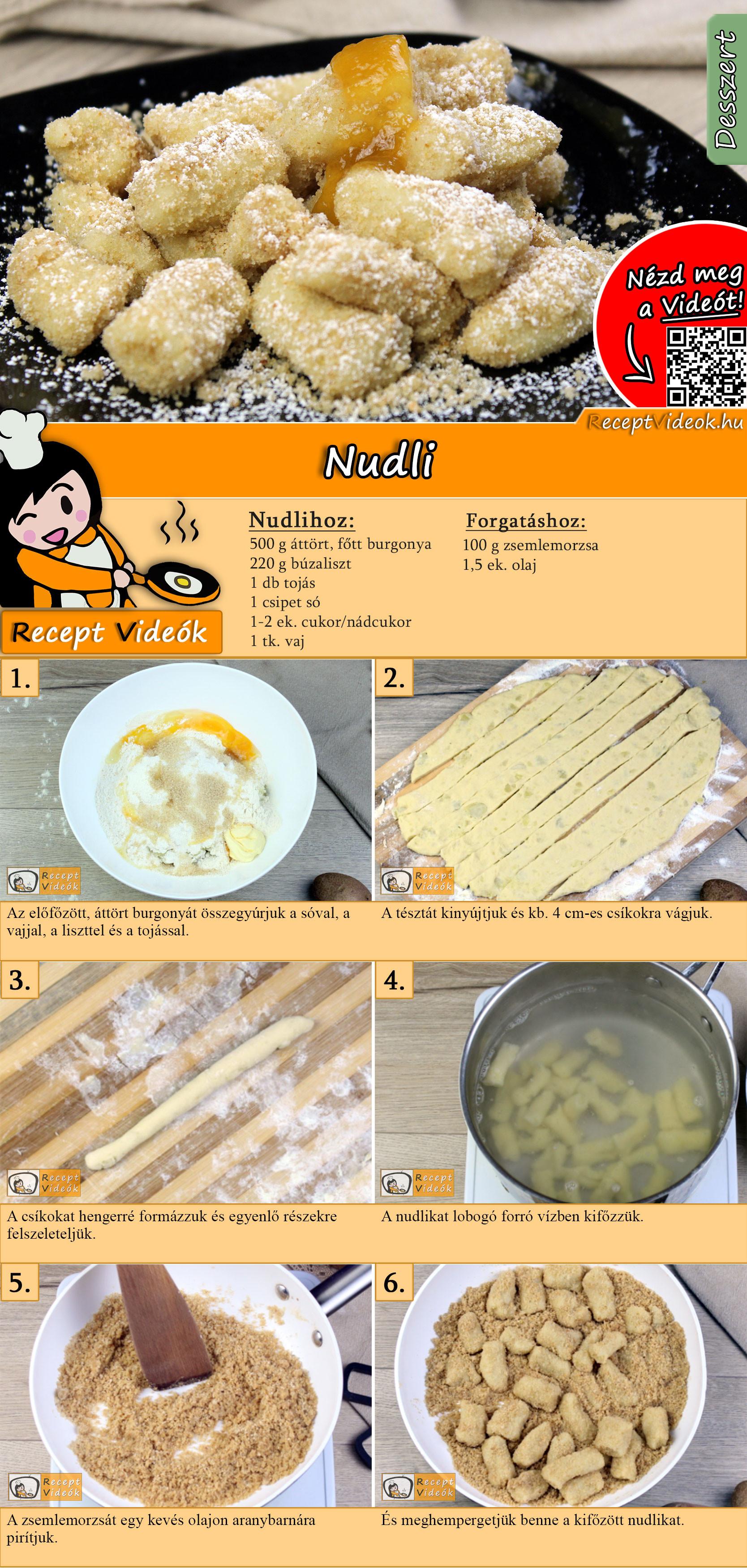 Nudli recept elkészítése videóval