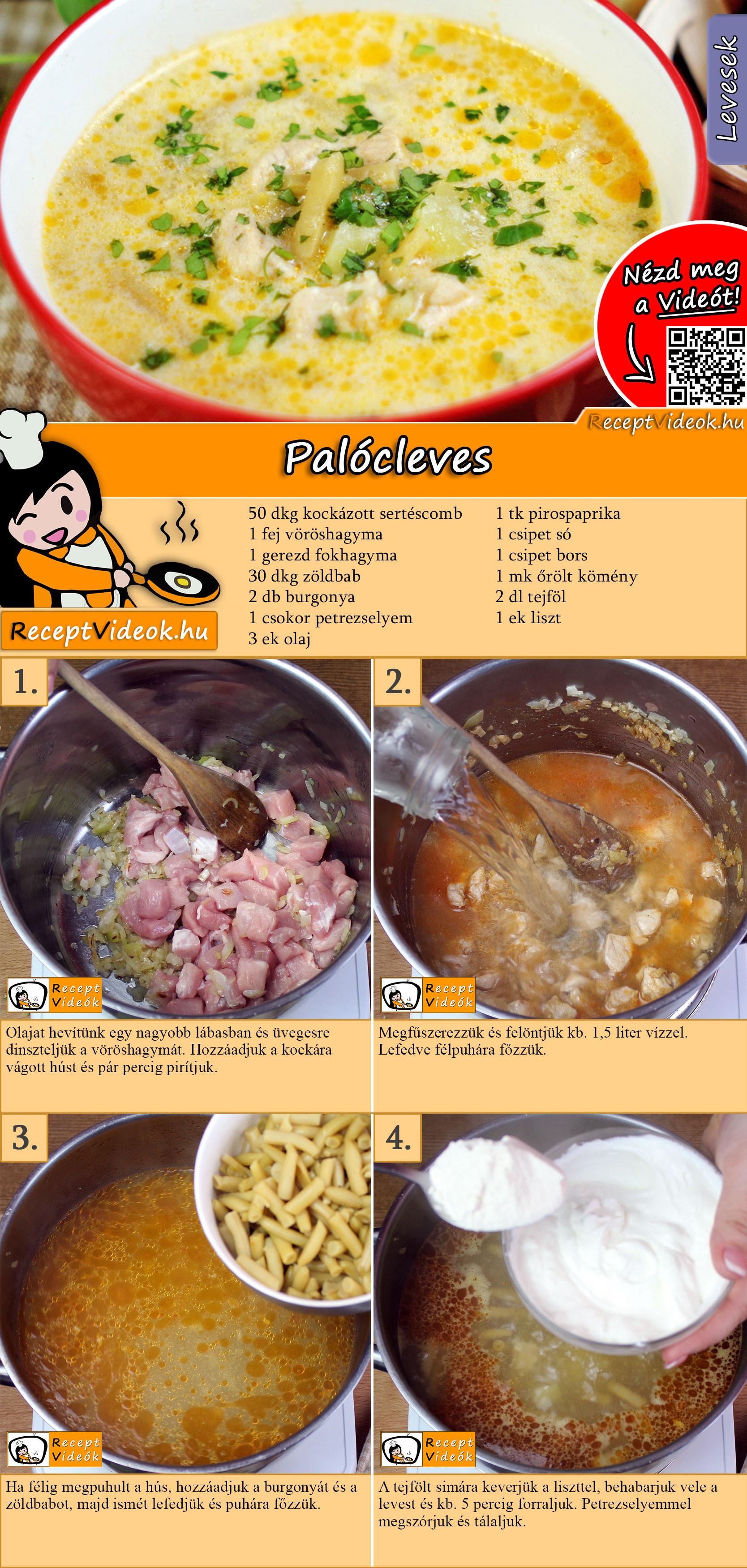 Palócleves recept elkészítése videóval