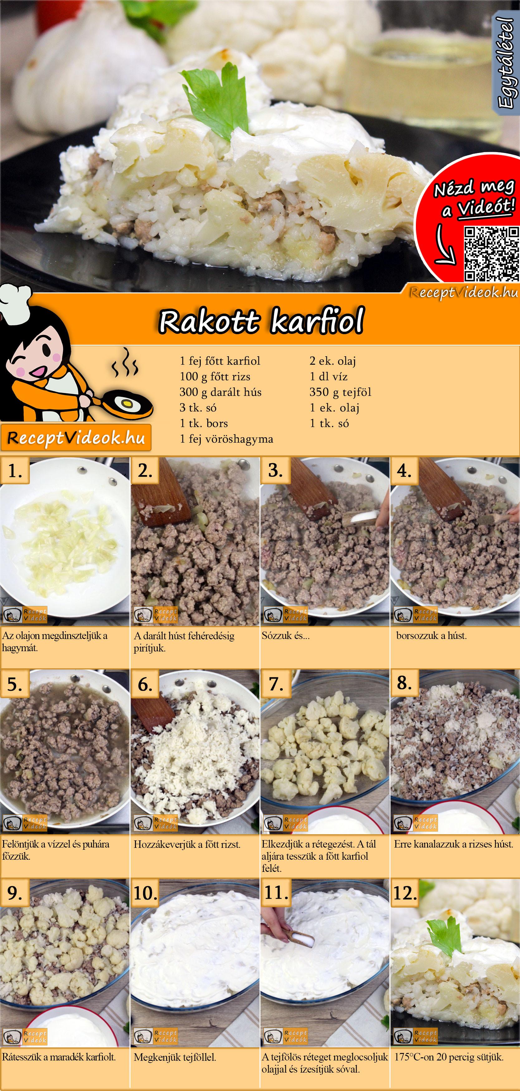 Rakott karfiol recept elkészítése videóval