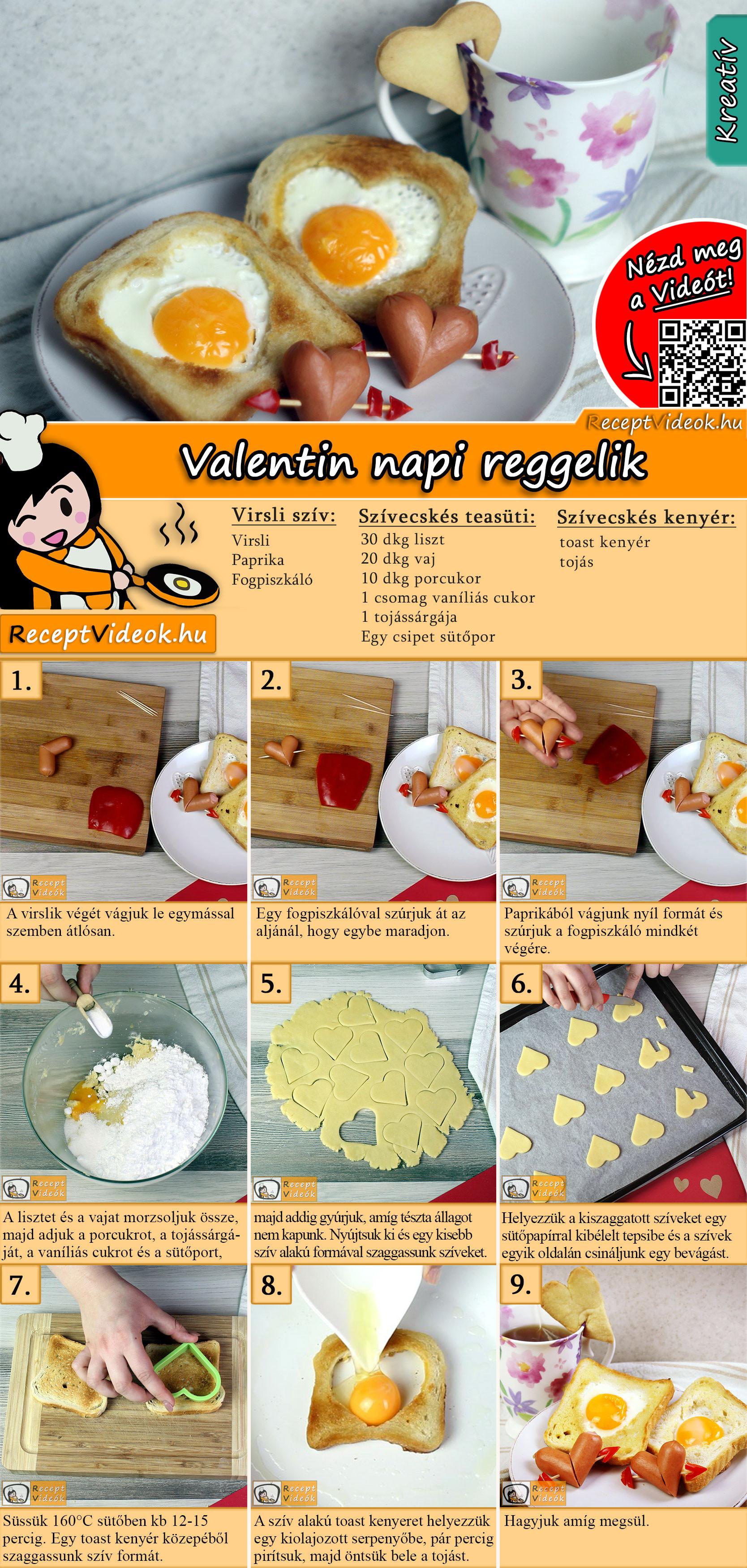 Valentin napi reggelik recept elkészítése videóval