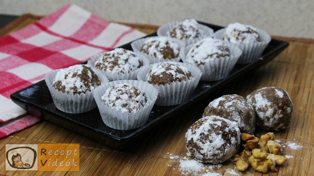 Hógolyó (sütés nélkül) recept, hógolyó (sütés nélkül) elkészítése - Recept Videók
