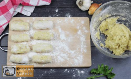 Burgonyakrokett recept, burgonyakrokett elkészítése 5. lépés