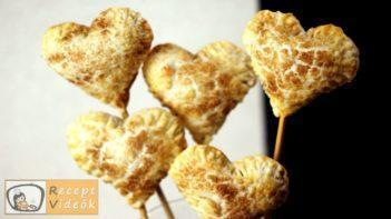 Valentin napi süti recept - lekváros mini szívek elkészítése - Recept Videók