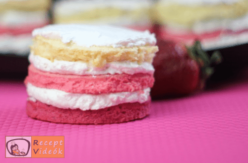 Valentin napi süti recept - valentin napi mini ombre torta elkészítése 13. lépés