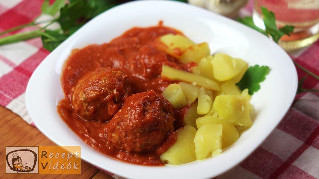 Paradicsomos húsgombóc recept, paradicsomos húsgombóc elkészítése - Recept Videók